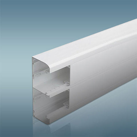 Legrand Snap On Trunking 2 Compartment 2M With Cover White