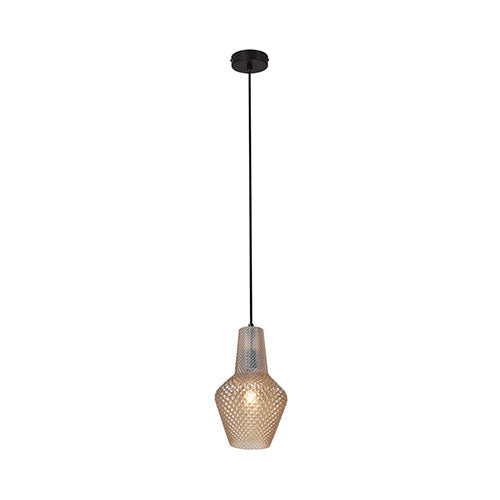 Eurolux Milano Pendant Amber Glass 310mm