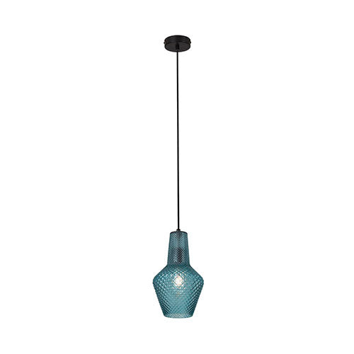 Eurolux Milano Pendant Blue Glass 310mm