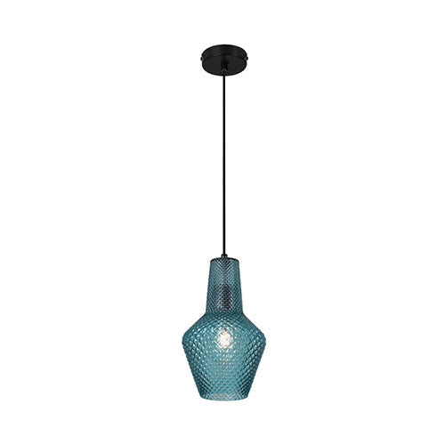Eurolux Milano Pendant Blue Glass 430mm
