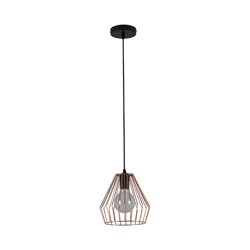 Eurolux Anthea Pendant Copper Grid Shade 220mm