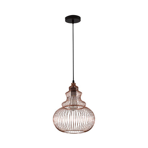 Eurolux Anthea Pendant Copper Grid Shade 310mm