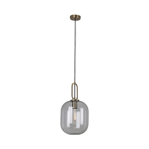 Eurolux Hallstat Pendant Bronze Clear Glass 250mm