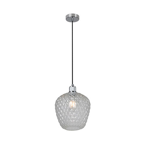 Eurolux Oslo Pendant Clear Glass 315mm