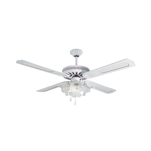 "52"" 4 Blade Ceiling Fan with Lights - White"
