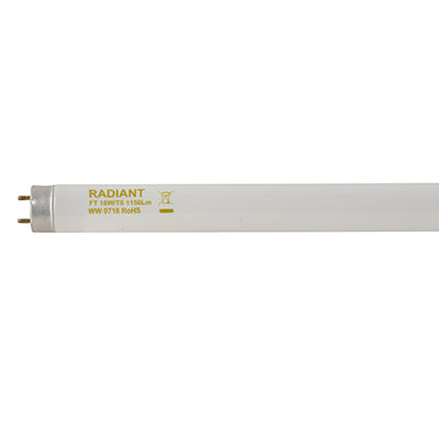 Fluorescent Tube T8 G13 18W Warm White - 2ft