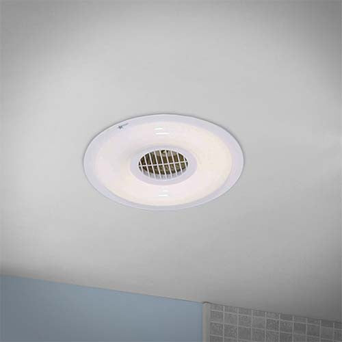 Bright star round bathroom extractor fan light livecopper - Bathroom ceiling extractor fan with light ...