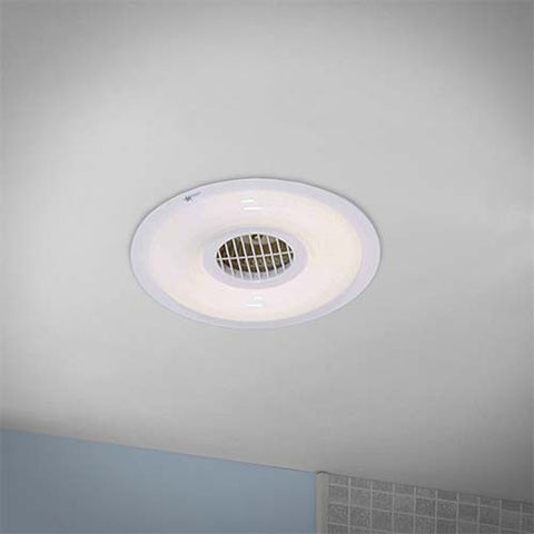 Bright Star Round Bathroom Extractor Fan & Light