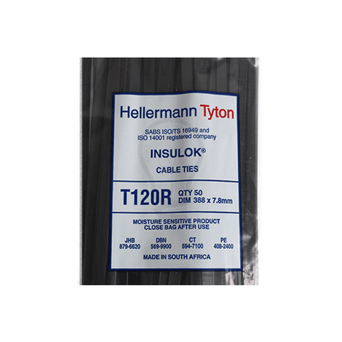 T120RBK Cable Tie 7.8mm x 388mm | Cable Management