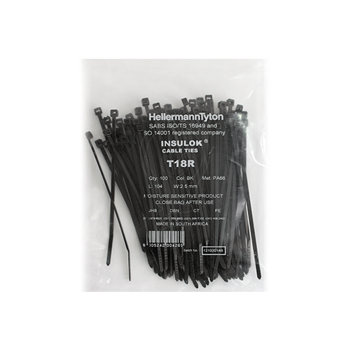 Hellermanntyton Cable Tie T18r 2 5mm X 104mm Livecopper