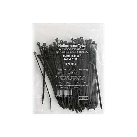 T18R Cable Tie 2.5mm x 104mm | Cable Management Online