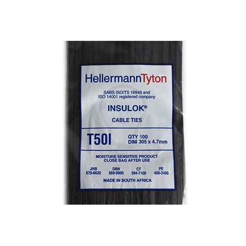 Hellermanntyton T50Ibk Cable Tie 4 7mm X 305mm