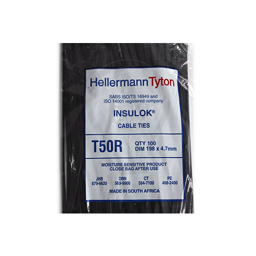 Hellermanntyton T50Rbk Cable Tie 4 7mm X 198mm