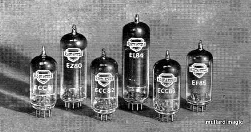 NEW FOR 1953 - MULLARD VALVES FOR AUDIO AMPLIFIERS