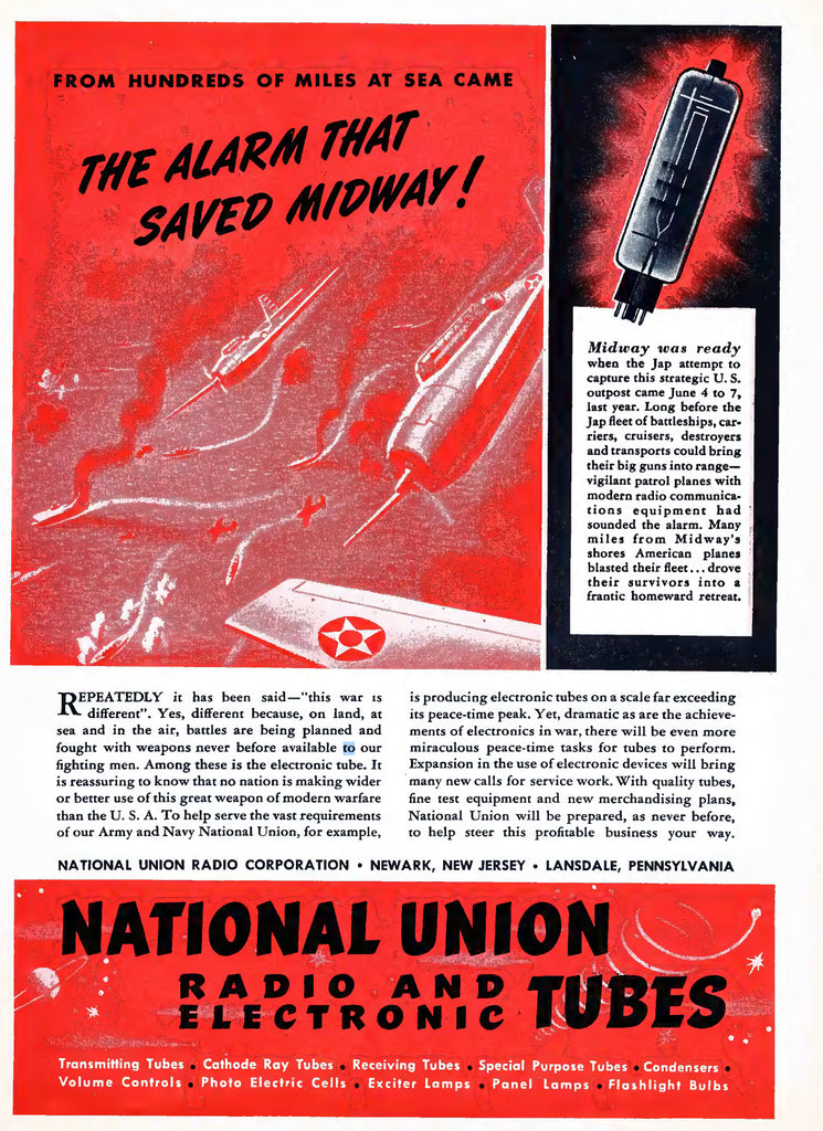 NATIONAL UNION & THE ALARM THAT SAVED MIDWAY IN 1942!