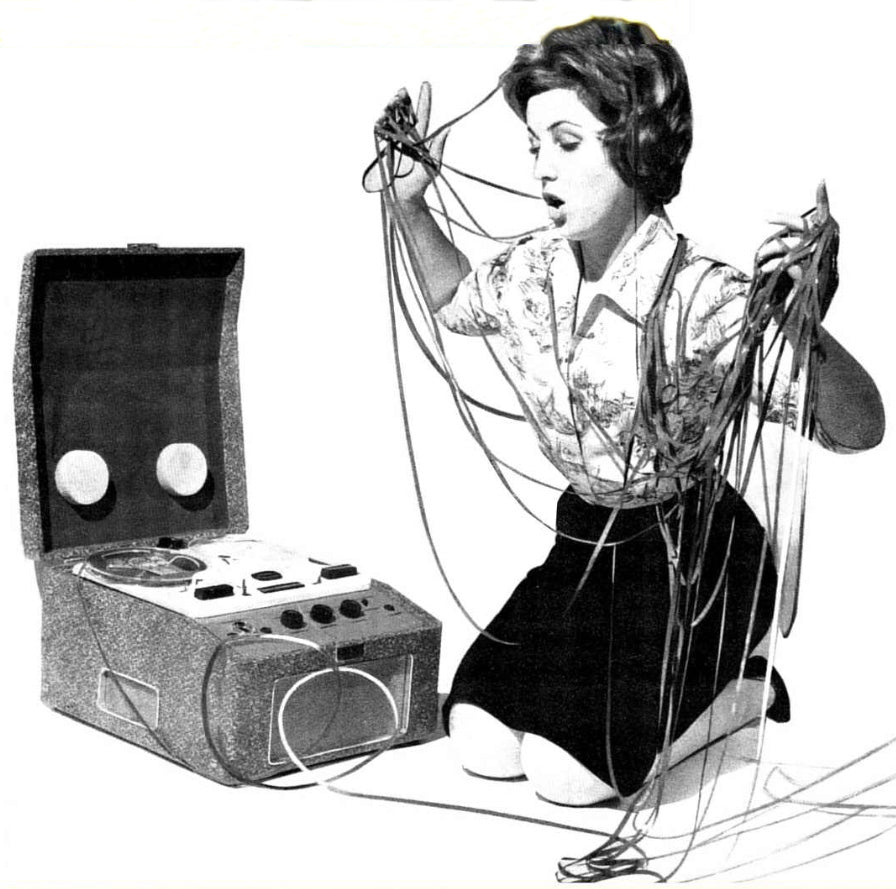 DESIROUS WOMEN AND TAPE DECKS BY FERROGRAPH, BRENELL & OTHERS DURING THE LATE 50'S!