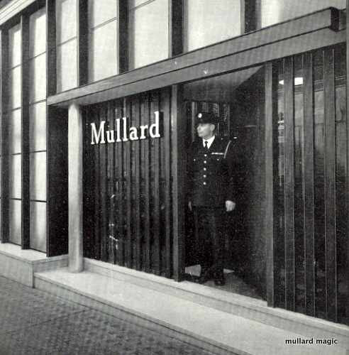 MULLARD OFFICES HIGH SECURITY PRECAUTIONS IN 1955