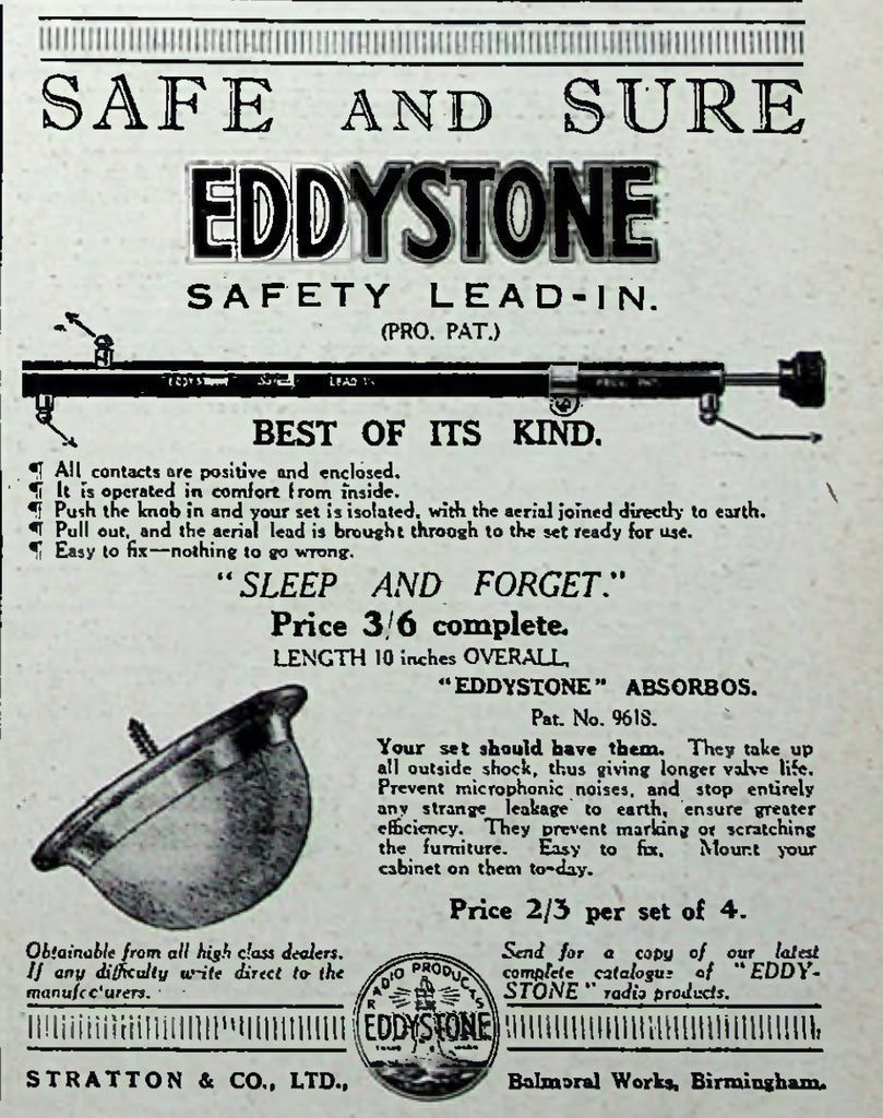 EDDYSTONE ABSORBOS - YOUR HIFI SHOULD HAVE THEM!