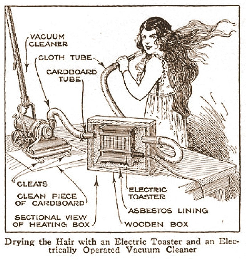 THE DELIGHTS OF VINTAGE VACUUM CLEANERS & THE MISUSE OF ELECTRICAL PRODUCTS
