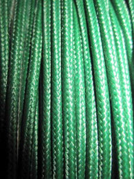 SILK BRAID COVERED VINTAGE 20 AWG HOOK UP WIRE GREEN SOLID TRACE - MULLARD MAGIC