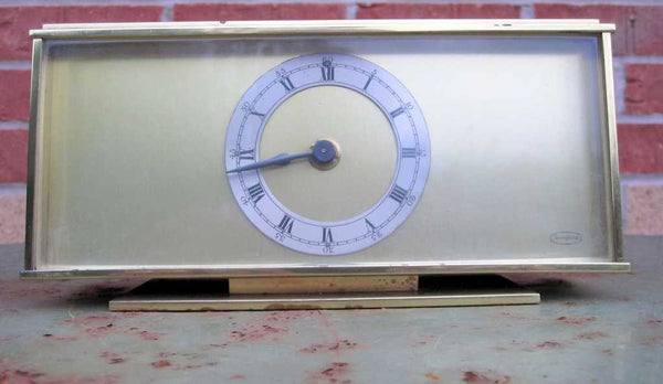 SMITHS TEMPORA BRASS MANTLE CLOCK WITH SECTRONIC Mk II MOVEMENT FROM 1969S