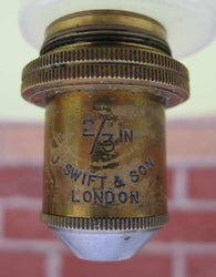 Swift of London,  2/3 Inch Parachromatic, Brass Microscope Lens, no Cannister