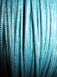 SILK BRAID COVERED VINTAGE 20 AWG HOOK UP WIRE LIGHT BLUE WITH LIGHT BLUE TRACER STRIPE - MULLARD MAGIC