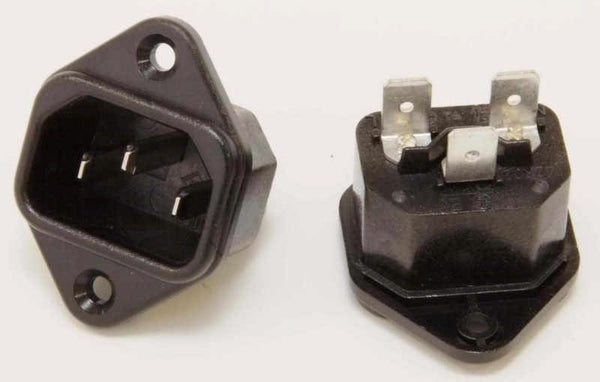 IEC CHASSIS SOCKET TO FIT APERTURE FOR BULGIN 2 & 3 PIN MAINS PLUGS - MULLARD MAGIC - 1