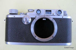 "Leica IIIb chrome (ATOOH) (No.290087), engraved ""fur Reichbeshaffenungsamp 1-2"" on rear top & ""Leitz-Eigentum, Berlin Amp"" on top-plate with star after serial number 1938/39"