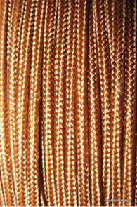 SILK BRAID COVERED VINTAGE 20 AWG HOOK UP WIRE BROWN SOLID STRIPE - MULLARD MAGIC