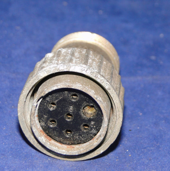 CANNON PLUG, 10H/19036 ,6 PIN FEMALE, STRAIGHT