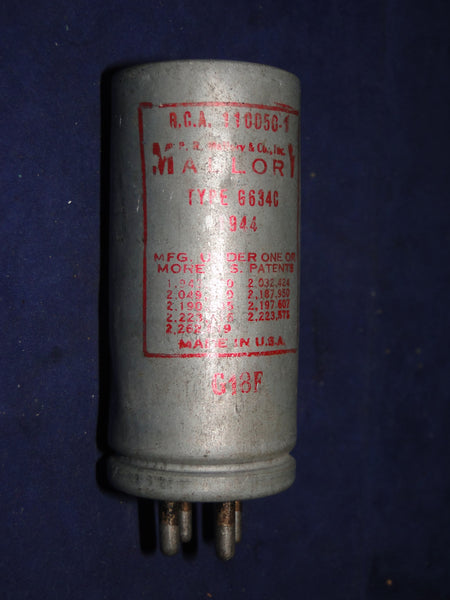 MALLORY, VIBRATOR, 4 PIN, TYPE 6534G, DATED 1944