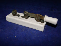 1930s, White Porcelain, 10cm Length, 35mm Width, Aerial Knife Switch, (SPDT)