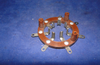 EDDYSTONE UNIVERSAL SHORT WAVE, BRITISH 7 PIN, B7, VALVE HOLDER,  CAT NO 1024, CODE ANIV,