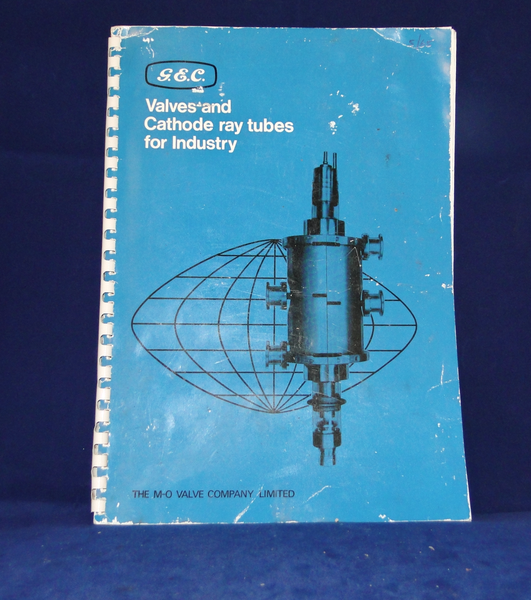 GEC, VALVES & CATHODE RAY TUBES FOR INDUSTRY, DATABOOK, A4, 1965