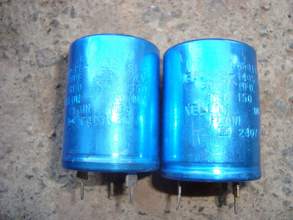 SPRAGUE ELECTROLYTIC SNAP IN 150uF 850 VDC CAPACITORS NOS - MULLARD MAGIC