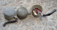 TIN HAT PATTERN VALVE TOP CAPS BULGIN, P65B - MULLARD MAGIC - 1