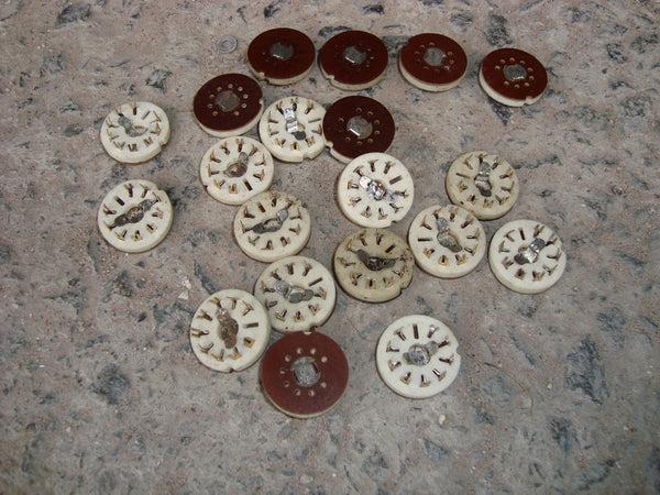 PCB BUTTON B9A VALVE BASES NOS - MULLARD MAGIC - 1