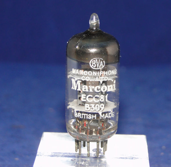 B309, ECC81, MARCONI, BRITISH MADE, 1961 PRODUCTION