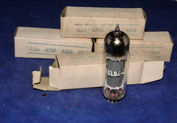 4X EL84,  BENTLEY ACOUSTICS, BOXED, NOS, DATED 1967