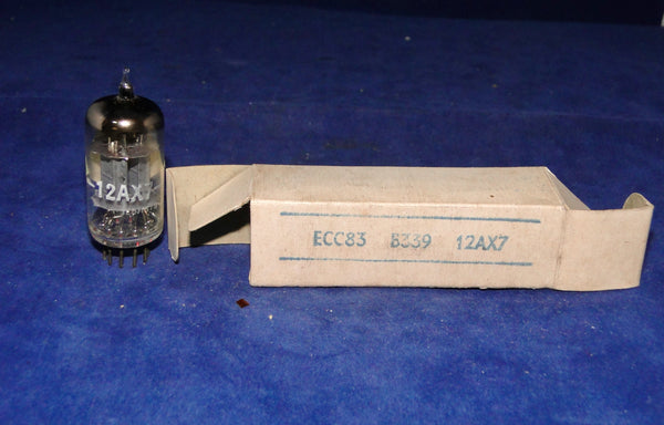 CV4004, MILITARY SPEC, ECC83, BENTLEY BADGED, BOX ANODE, BRIMAR FOOTSCRAY, MANUFACTURED DEC 1960, NEW BOXED