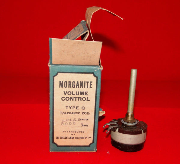 MORGANITE ,VOLUME CONTROL, TYPE Q, POTENTIOMETER, 5K LIN, SP SWITCHED, NEW BOXED