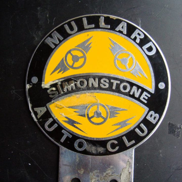 Vintage Car Badge Mullard Simonstone Auto Club