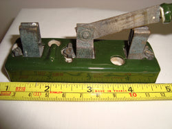 1930s Green Porcelain 3 3/4 inch Aerial Knife Switch