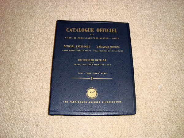 1949 Official Catalogue of Swiss Watch Repair Parts Part 1: Ebauche S.A Movements