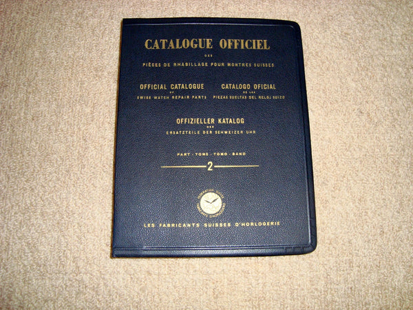 1949 Official Catalogue of Swiss Watch Repair Parts Part 2: Swiss Watch Factory Lever Movements