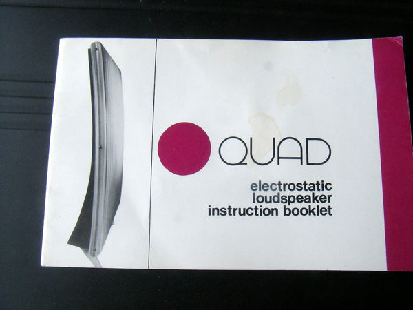 QUAD ELECTROSTATIC ESL57 INSTRUCTION BOOKLET DATED 1973 GENUINE QUAD - MULLARD MAGIC - 1