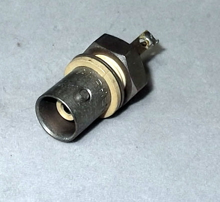 Amphenol ,BNC Connector Receptacle, 31-10, 31-102,  Female Socket ,50 Ohm, Panel Mount, Solder Cup
