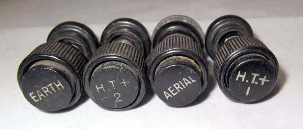 VINTAGE BINDING POSTS, EARTH, HT1, HT2, AERIAL