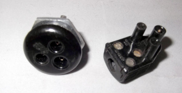 Miniature Bulgin, 3-Pin, Mains Panel Plug, or, Socket, 250V 3A,  SA2403 Plug,  SA2404 Socket as used for Michel Gyrodek PSU